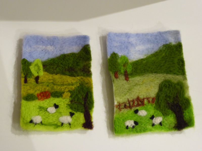Needle felted pictures